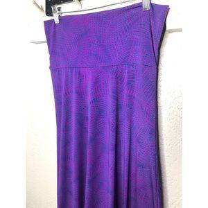 LuLaRoe purple and teal maxi skirt S NWOT